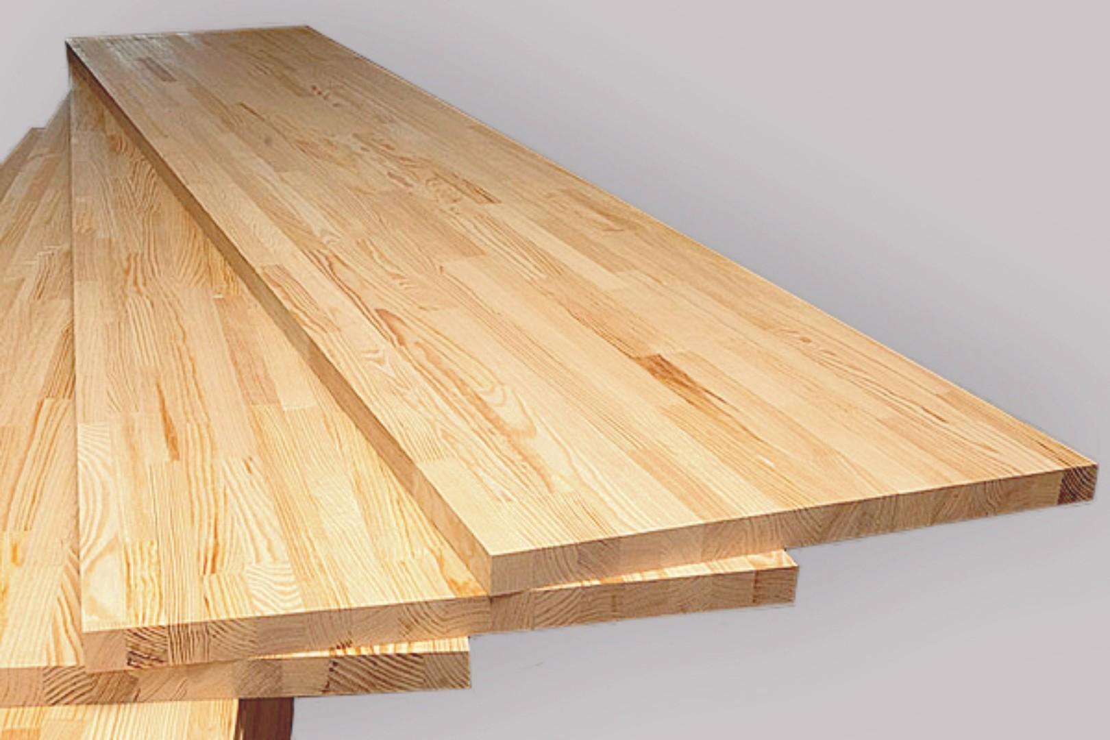 Мебельный щит сращенный, порода — Ясень — ассортимент и