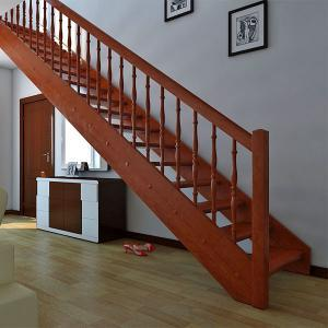 №11 Прямая лестница с классическим ограждением