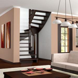 №26 Лестница с поворотом на 180 ° с классическим ограждением