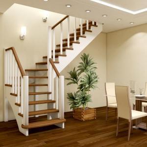 №16 Лестница с поворотом на 90 ° с простым ограждением