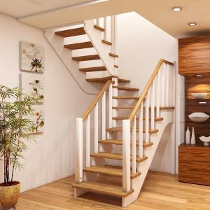 №23 Лестница с поворотом на 180 ° с простым ограждением