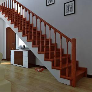 №12 Прямая лестница с классическим ограждением