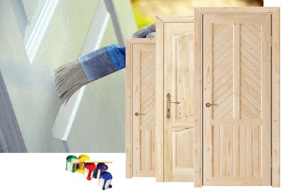 Продажа сосновых дверей