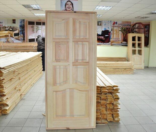 Ассортимент дверей из сосны